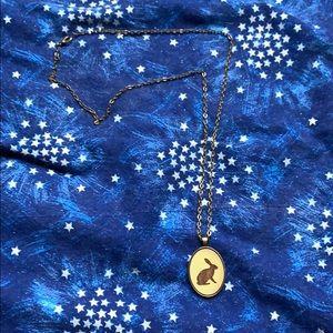 Bronze Rabbit Cutout Necklace